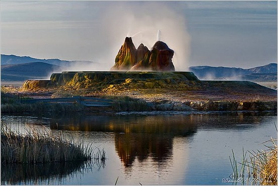 Fly Geyser in Black Rock Desert 08