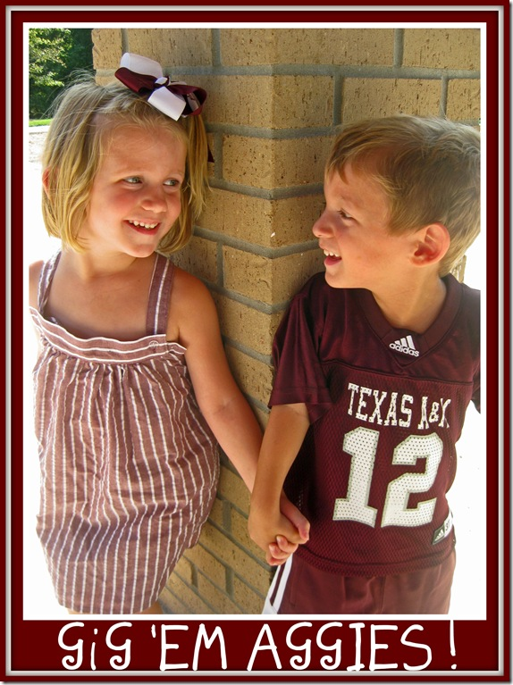 little aggies with border