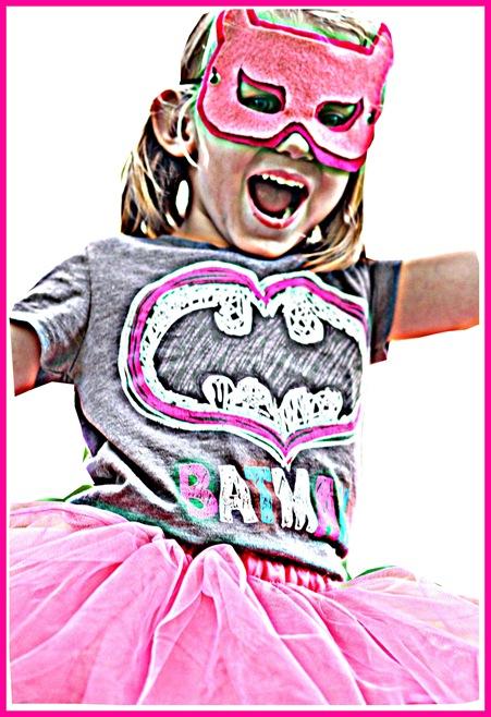 bat girl in frame