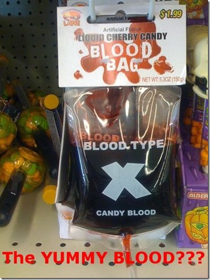 Funny Pictures: Bloody Candy for Halloween Special?