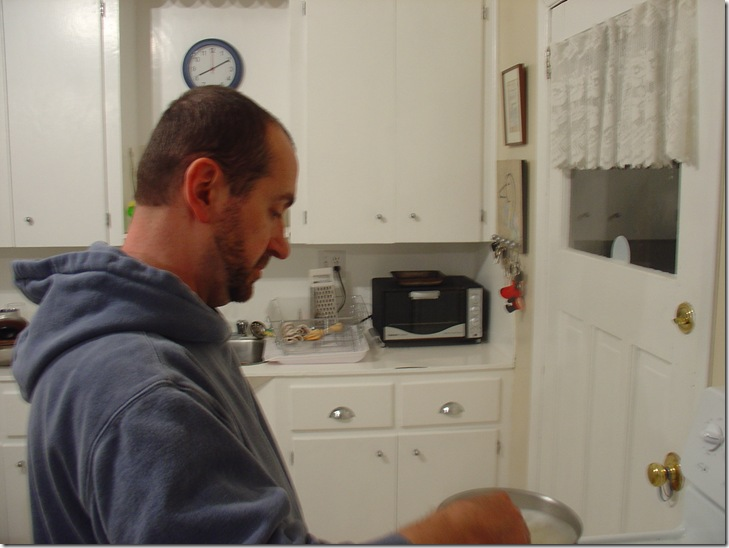 A Purely Gratuitous Shot of Alan Cooking Dinner