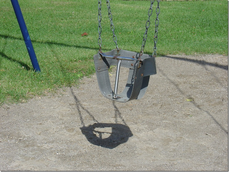 Scary child's swing