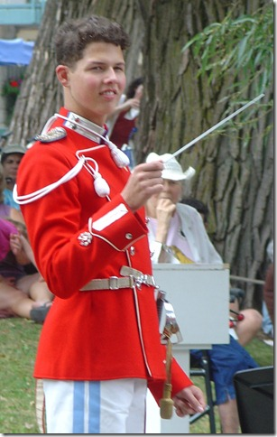 Nikolai conducting the Tivoli Boy's Guard Band