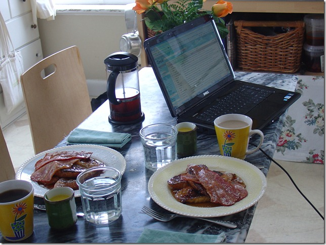 The weekly breakfast working from home edition
