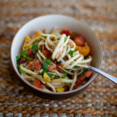 Summertime Noodles w/ Sweet Balsamic Dressing
