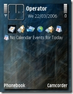 Screenshot of Dark Illusion theme for E71 and E71x and S60 V3 phones