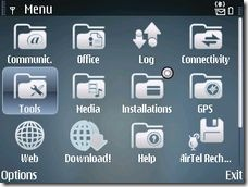 Screenshot of the Stylish Water Theme for E71 and E71x