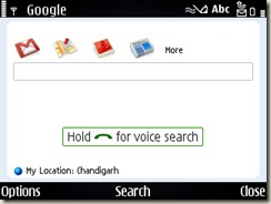 Google Application for Nokia E71