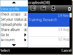 Orkut settings on Nokia E71