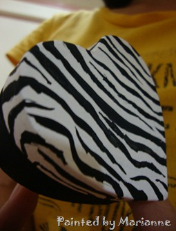 Zebra Inspired heart Box