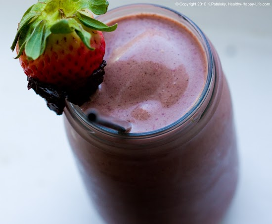 Chocolate Strawberry Banana Shake. Dessert-Approved.