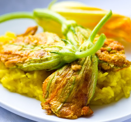 Stuffed Squash Blossoms! Such a poetic culinary phrase, which now has ...