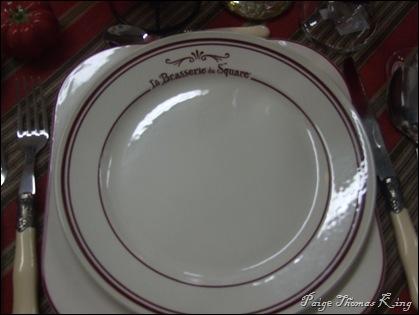la brasserie dinner plate