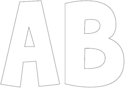 Molde de letras para imprimir - Imagui