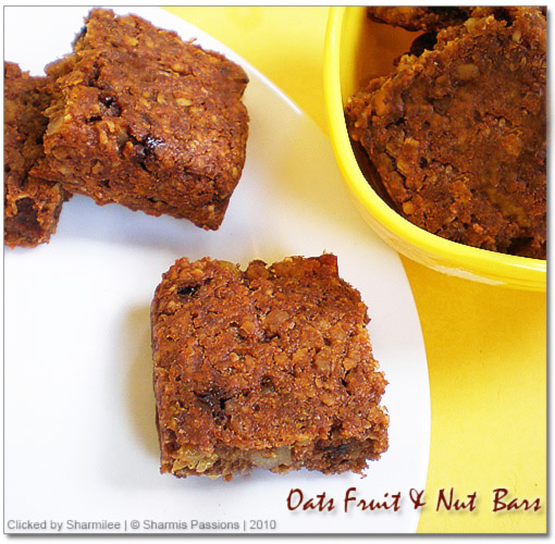 Oats,Cornflakes Fruit & Nut Bars