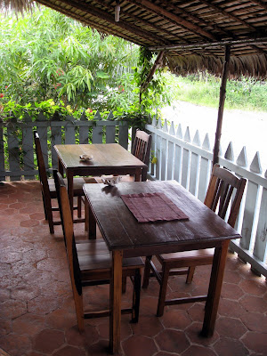 Terrace at Chez Eugenie hotel in Nosy Be