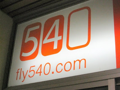 Fly 540 sign in Nairobi