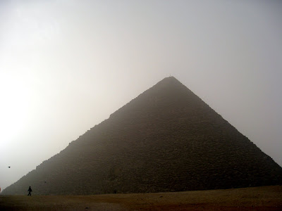 Great pyramid in Egypt in the morning light