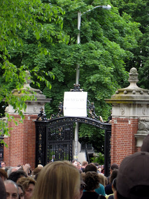 Van Wickle Gates at Brown University during commencement