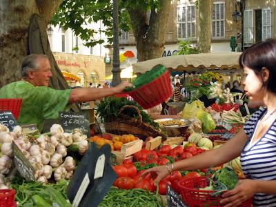 Produce Market in Place Richelme in Aix en Provence France