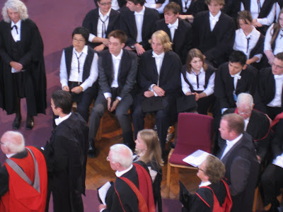 Graduation ceremony for Brasenose College in Oxford England