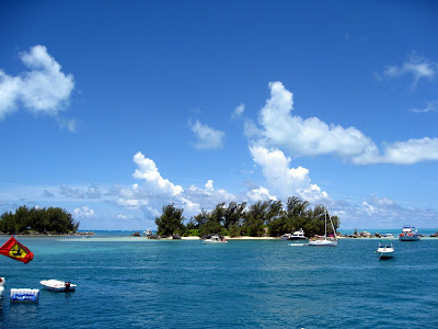Boats in Bermuda during Cup Match
