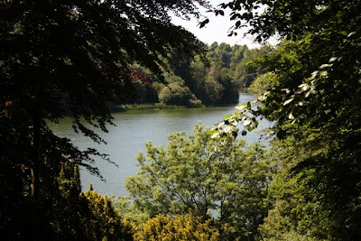 Lake at Blenheim Palace in England