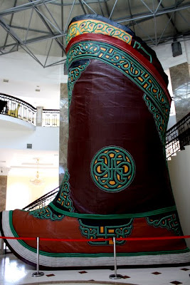 World's largest boot in Terelj National Park in Mongolia