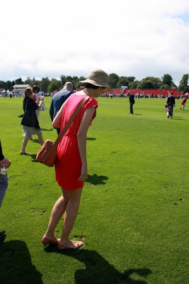Stomping divots at the Cartier International Polo in England