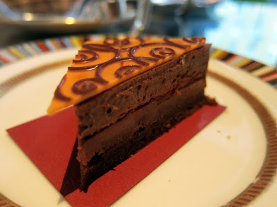 Chocolate cake inspired by an Erdem dress at Pret a Portea in London