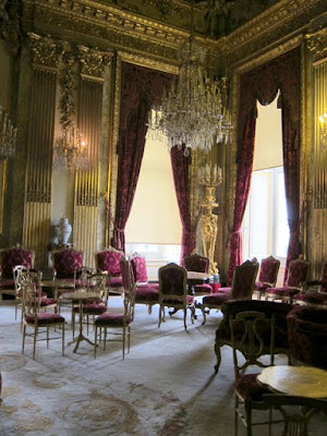 Napoleon III's state apartments at the Louvre on a private after-hours tour in Paris France
