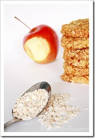 Ciastka owsiane z jablkami/oats and apple cookies