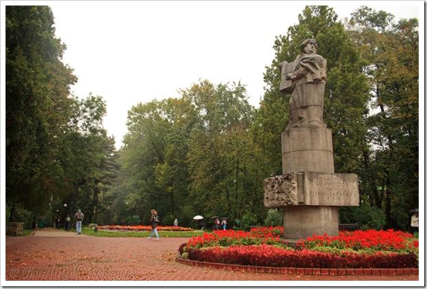 Nowy Sącz, Plac Wolności, pomnik Adama Mickiewicza
