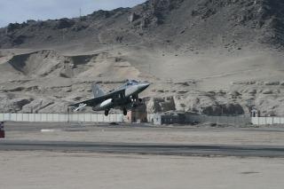 India's Light Combat Aircraft [LCA] Tejas at Leh