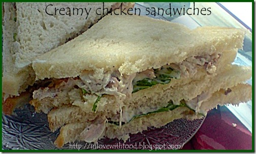 creamy chicken sandwiches