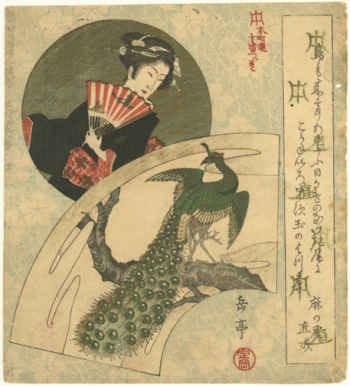 Geisha y Pavo real