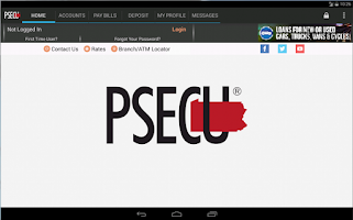 Screenshot of PSECU Mobile+