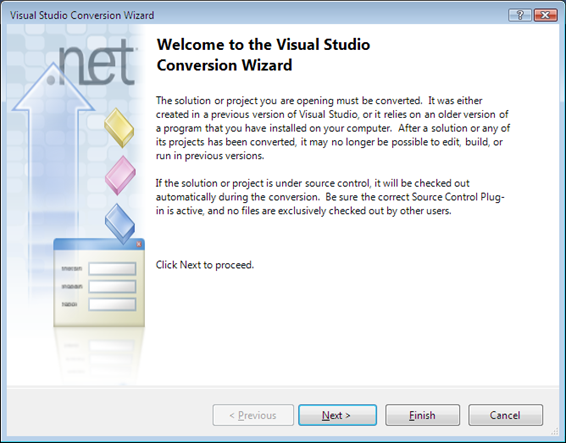 VS Conversion Wizard