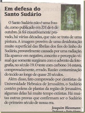 Santo Sudário uma fraude confirmada - COMENTÁRIO - 2009