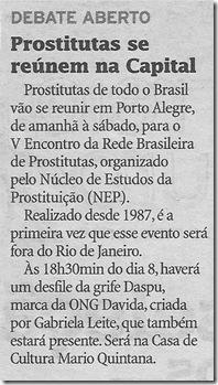 Prostitutas se reunem na em POA - 07072010