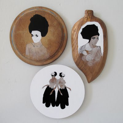 PAINTING ON FOUND OBJECTS