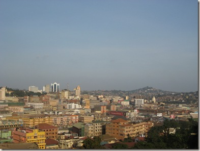 Kampala, view from the Gaddafi mosque