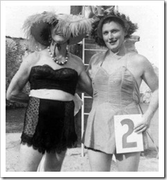 womaless swisuit competition circa 1950