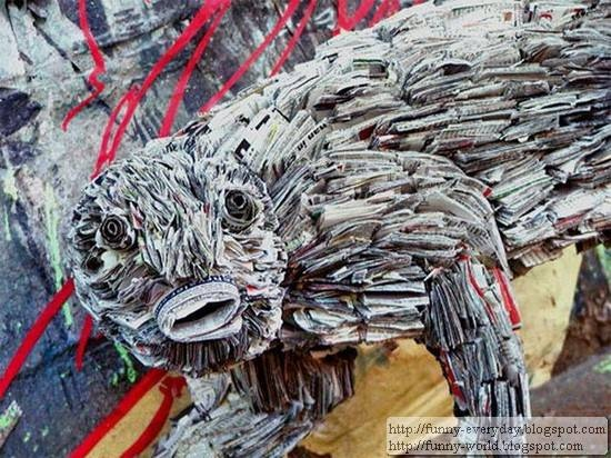 Sculptures made from Newspapers by Nick Geogiou (16)