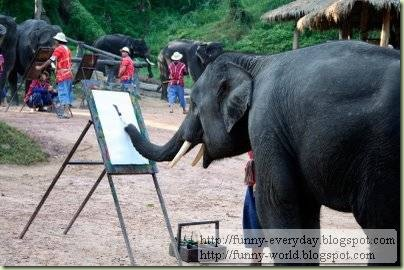 Elephants creativity paintings
