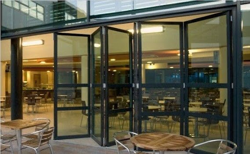 Folding Glass Garage Door in Restaurant 512 x 315