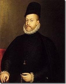 Felipe II pintado por Sánchez Coello en 1557