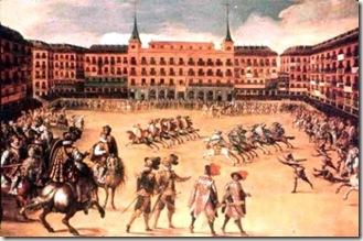 Juego-de-Cañas en la Plaza Mayor, Juan de la Corte, s XVII