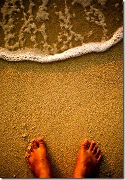 feet o sand