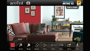 Screenshot of Mitre 10 Virtual Wall Painter